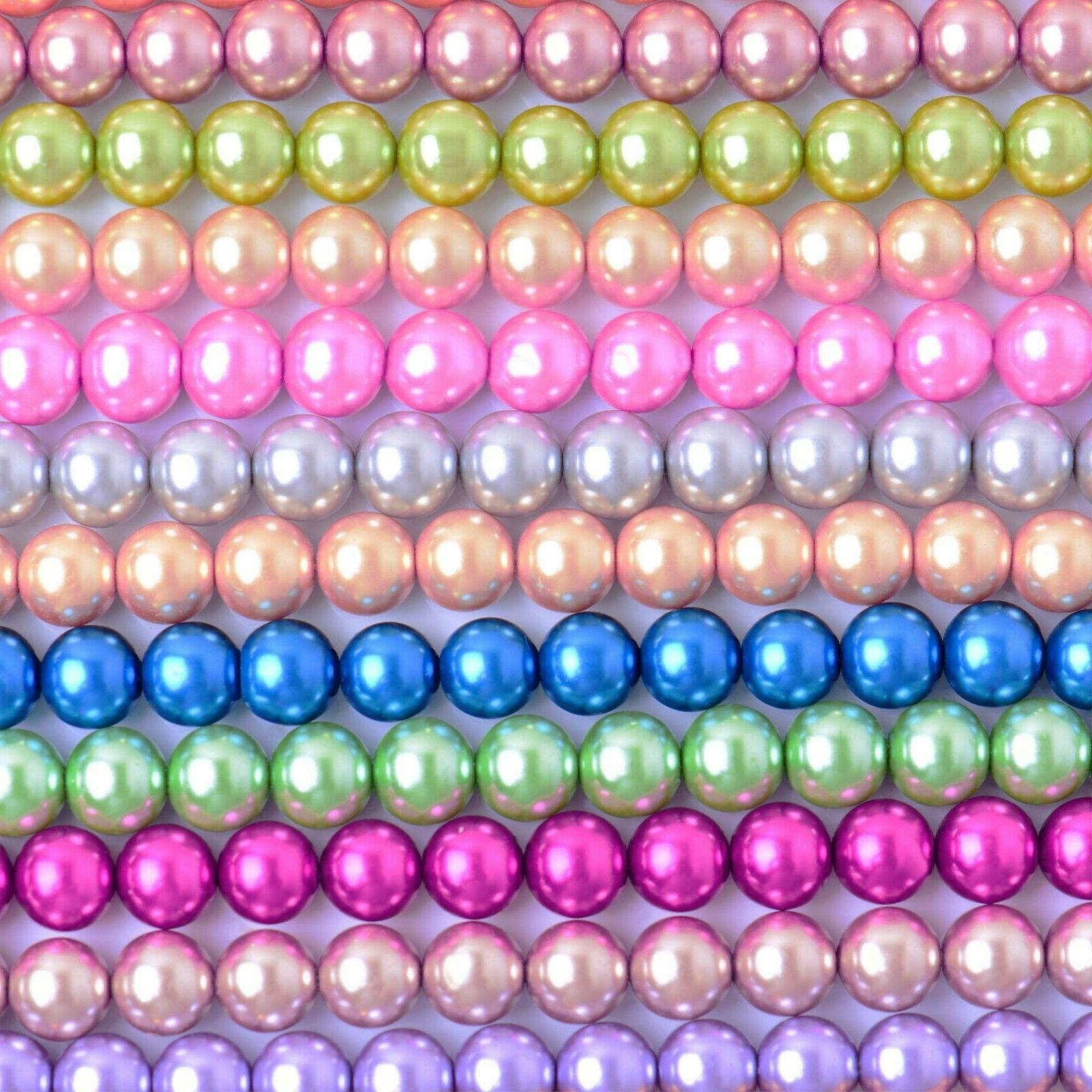 glass pearl round beads with hole