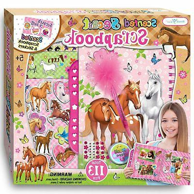 horse gifts for girls scrapbook craft kit