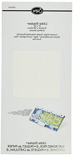 "Sizzix Little Sizzles - 6"" x 13"" Mat Board Pack, 6 White She"
