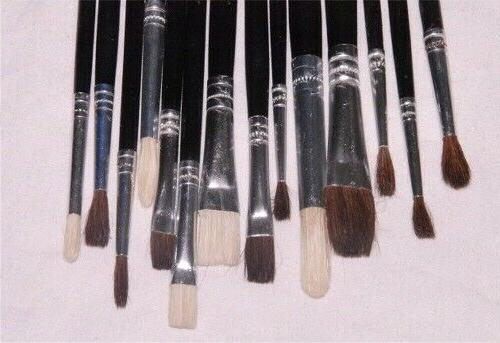 Lot of 14 Paint Brushes Crafts