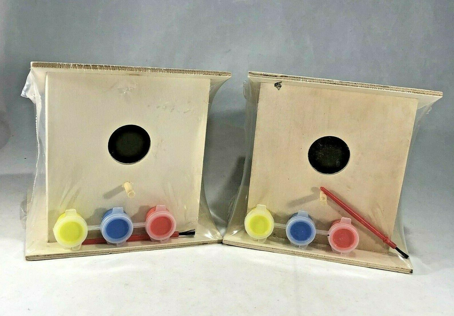 lot of 2 wooden paint your own