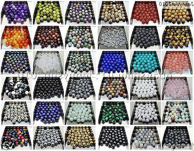 natural gemstone round spacer loose beads 4mm