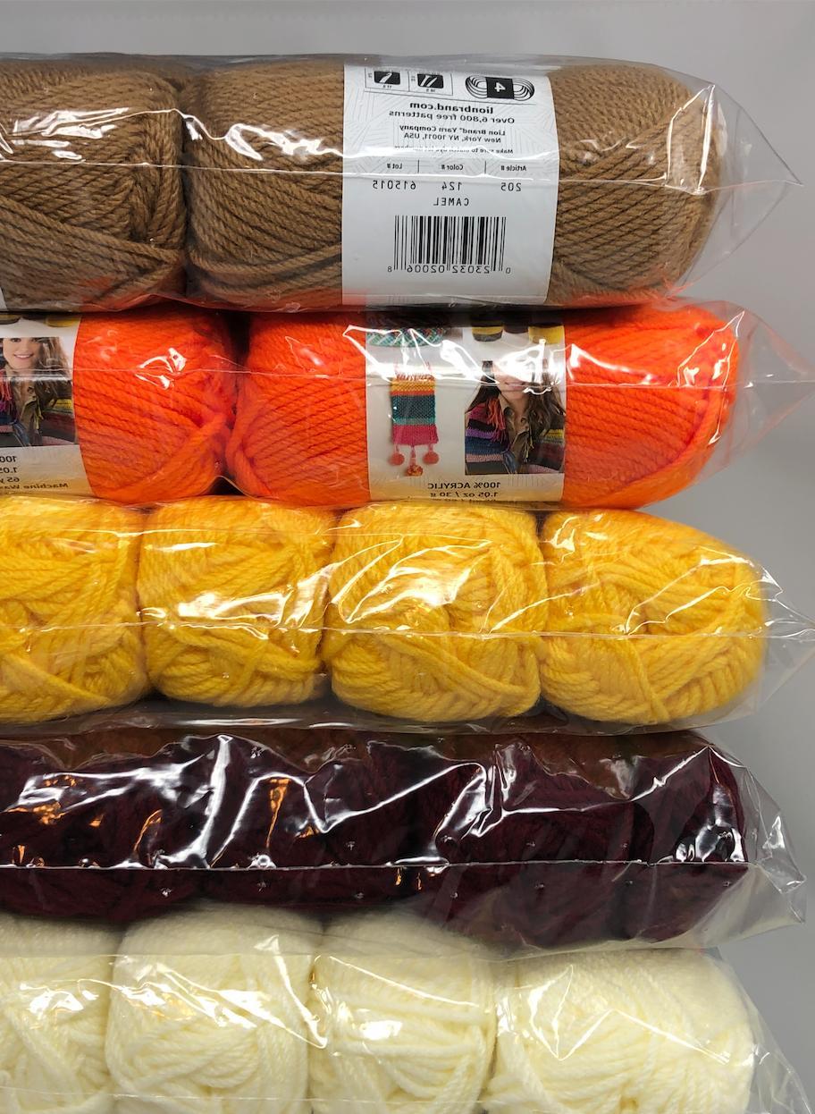 New LION 4 ply Yarn Medium Lot Skeins $45