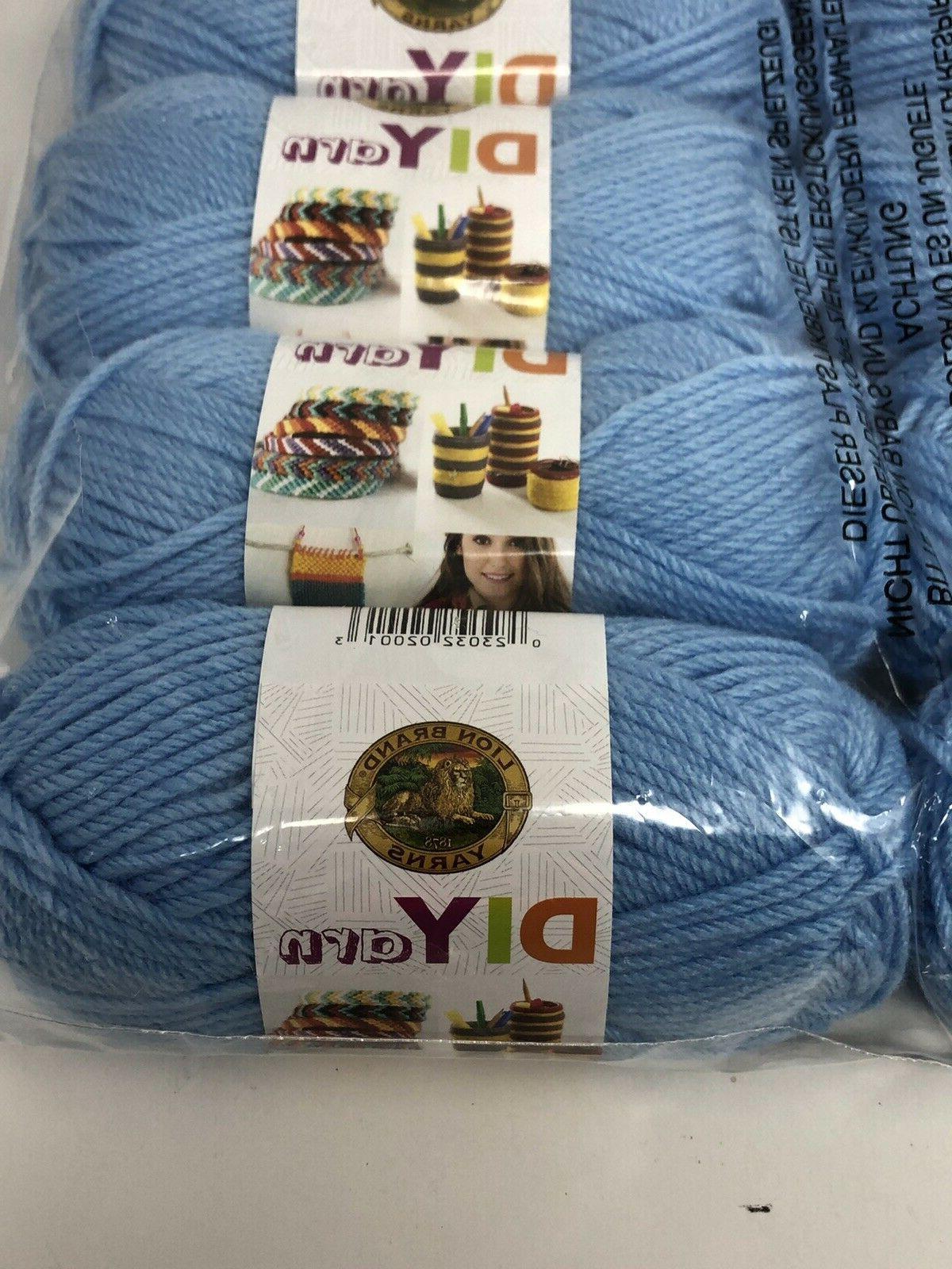 NIB Lion 4 ply yarn Skeins per yards Color $45