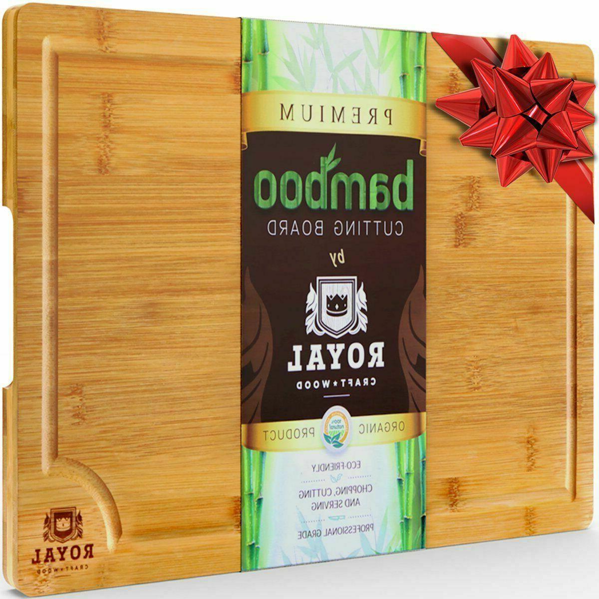 organic bamboo cutting board
