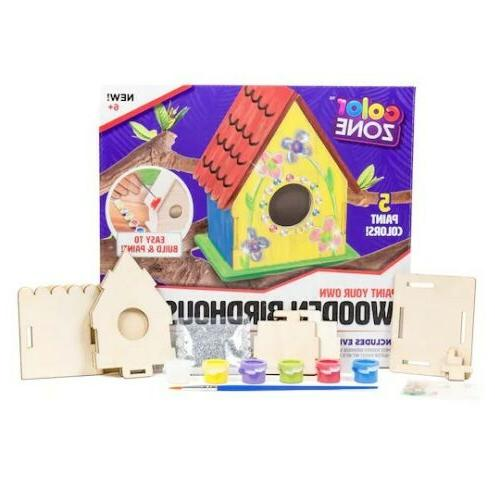 paint your own wooden birdhouse easy to