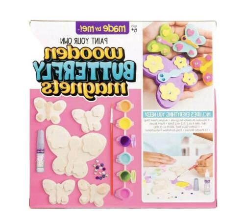 paint your own wooden butterfly magnets by