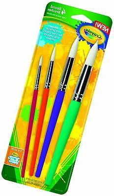 Crayola Paintbrushes-Round 4/Pkg 142980