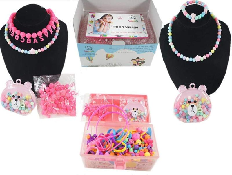 pop snap beads for girls art crafts