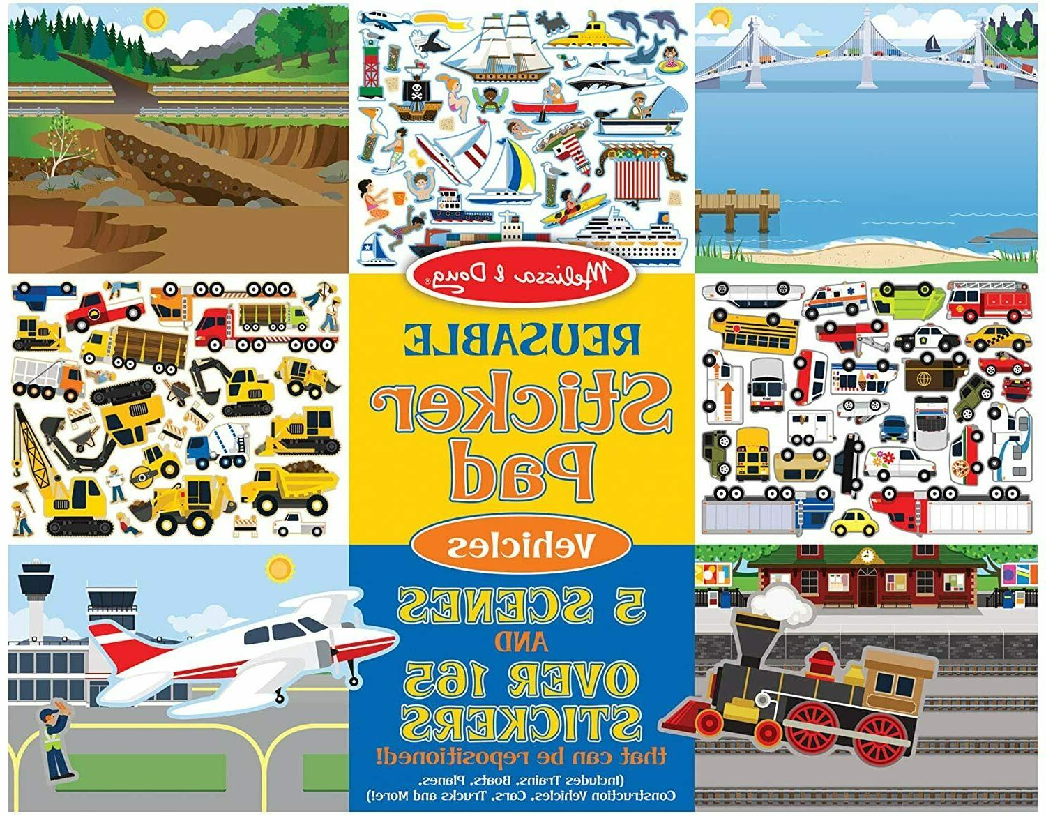 reusable sticker pad vehicles 165 stickers 3