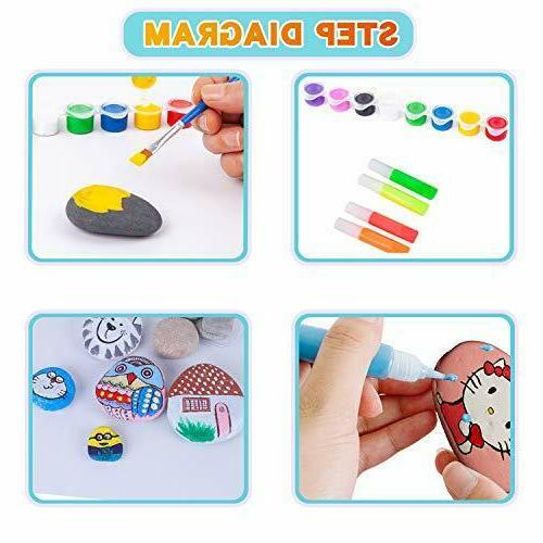 Liberry Rock Kit for Kids - and & Ages