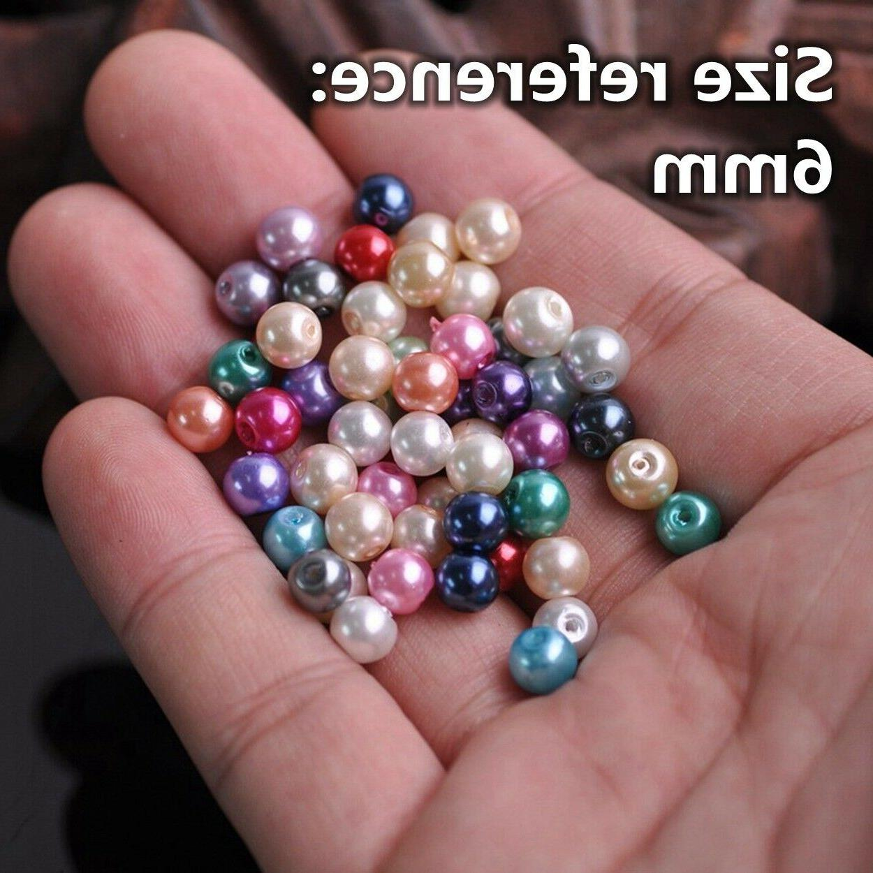 4/6/8/10/12mm Round Czech Pearl Beads for Crafts Jewelry