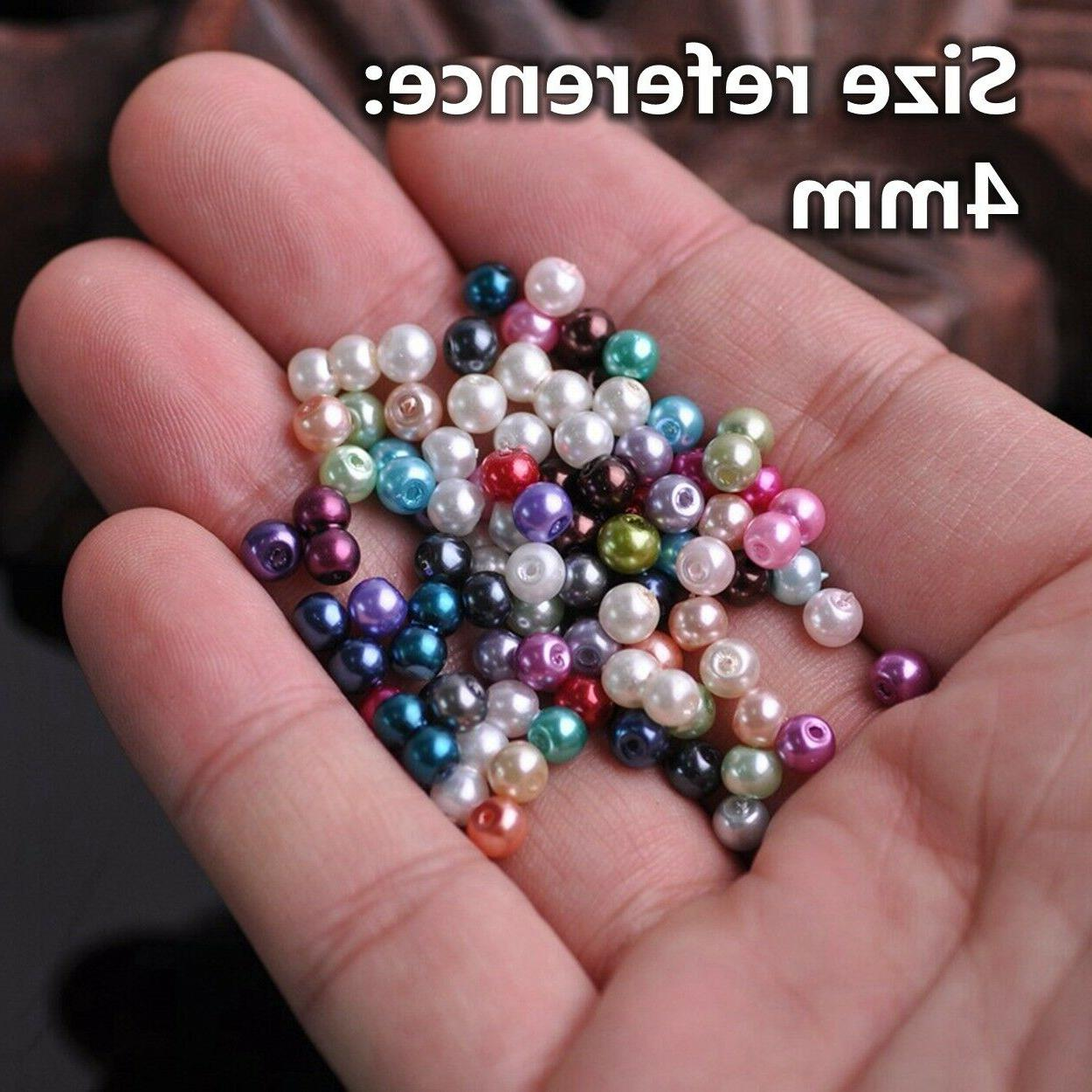 4/6/8/10/12mm Round Pearl Loose Beads for
