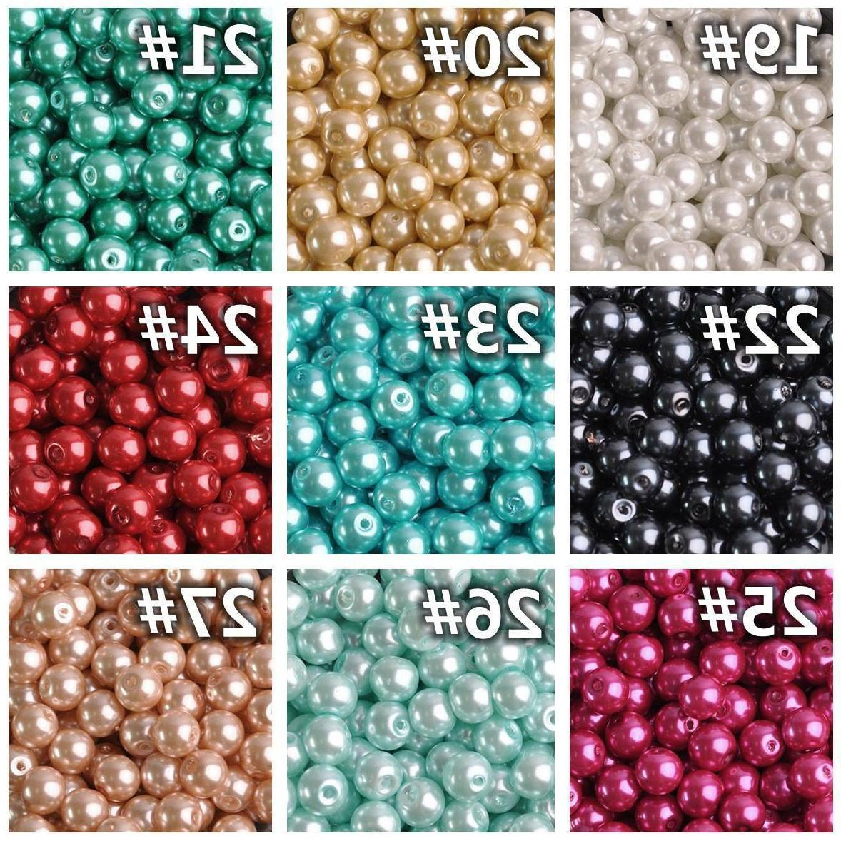 4/6/8/10/12mm Round Czech Pearl Loose for Making