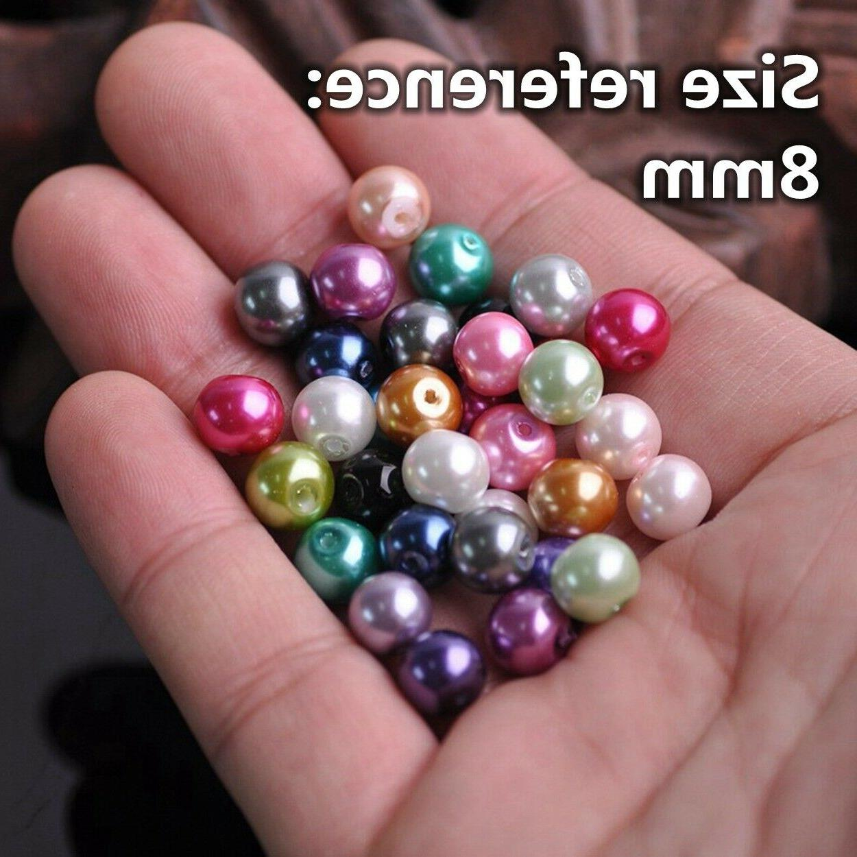 4/6/8/10/12mm Glass Pearl Beads lot for