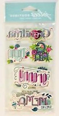Scrapbooking Crafts Stickers Jolee's Grandma Phrases Gma Gra