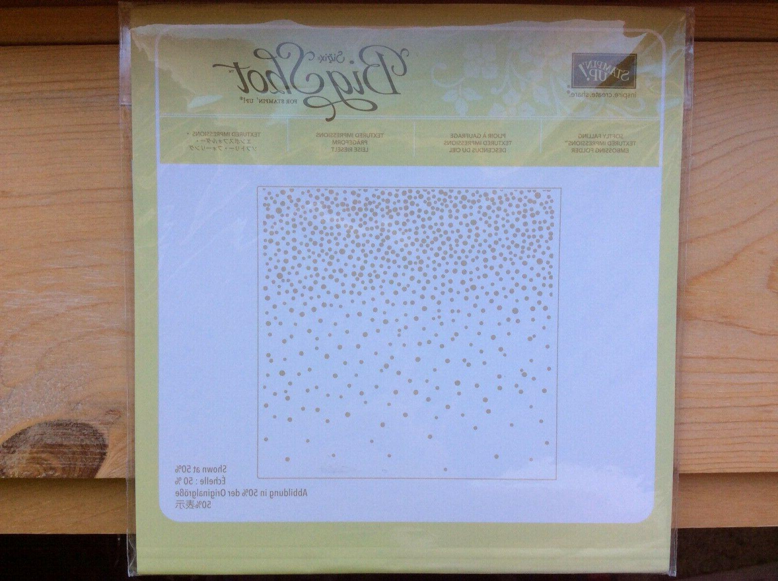stampin up softly falling new textured impressions