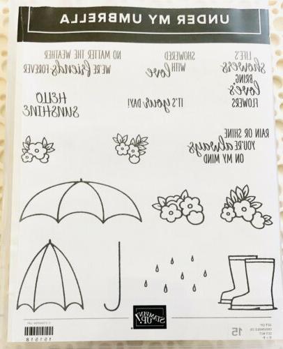 stampin up under my umbrella photopolymer stamp