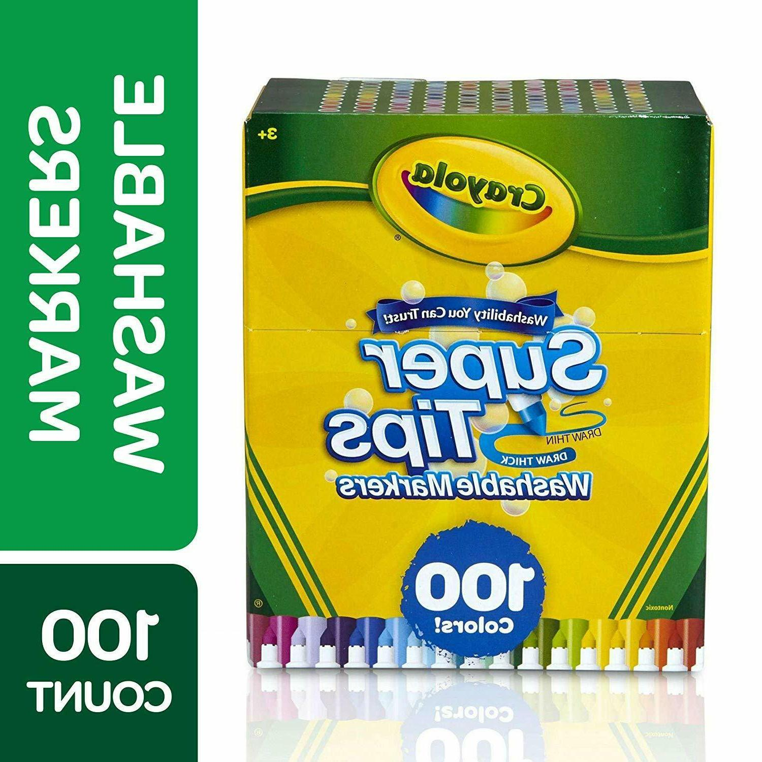 super tips washable markers 100 count brand