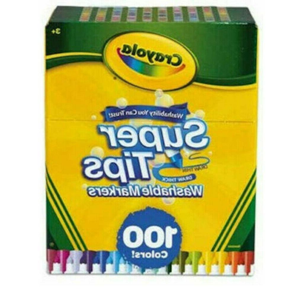 Crayola Tips Markers, - 100