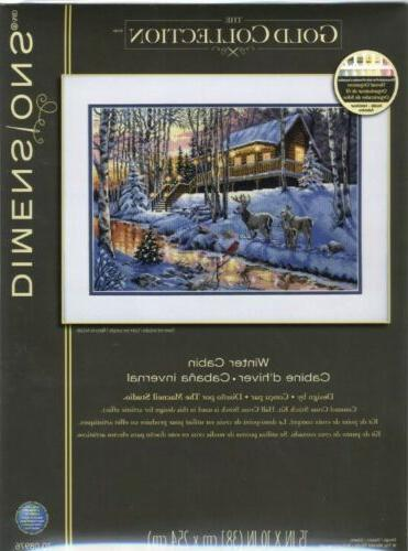 DIMENSIONS THE GOLD Cabin-Counted Cross Stitch RARE SEALED