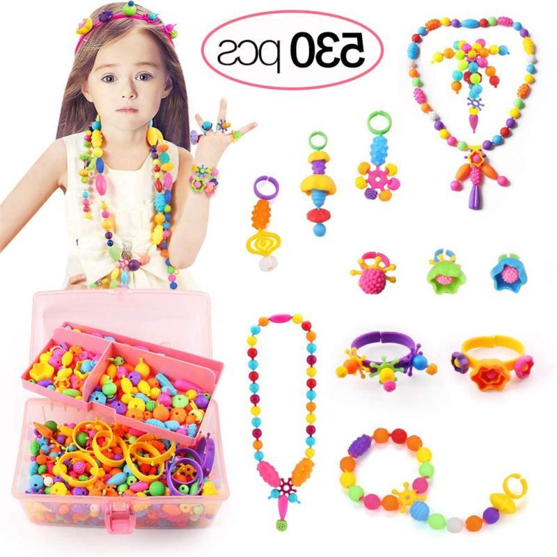 530 pcs pop beads arts and crafts