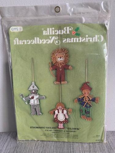 vintage felt ornament kit dorothy and friends