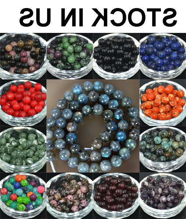 wholesale lot natural stone gemstone round spacer