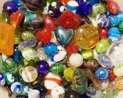 Lampwork Beads, 1 LB  Bulk, Mixed Style & Colors, Handmade G