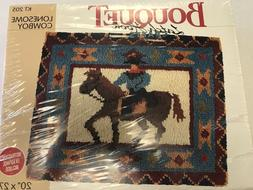 Bouquet Latch Hook Crafts Rug/ Wall Hanging Kit Lonesome cow