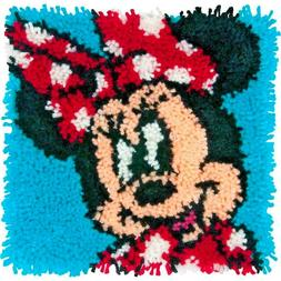 Latch Hook Rug Kit MINNIE MOUSE Disney Pillow or Wall  Hangi
