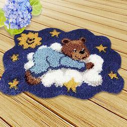 Latch Hook Rug Kits Crochet Needlework Crafts with Instructi