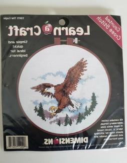 DIMENSIONS LEARN A CRAFT Counted Cross Stitch Kit with HOOP
