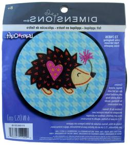 Dimensions Learn-A-Craft Felt Applique Kid's Craft Hedge Hog