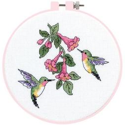 Dimensions Learn-A-Craft Hummingbird Duo Counted X-Stitch Ki