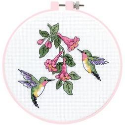 Dimensions Learn-A-Craft Hummingbird Duo Counted X-Stitch Ki