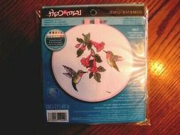 """LEARN  A  CRAFT  """"HUMMINGBIRD  DUO""""   Counted Cross Stitch K"""