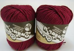 Lily Sugar 'n Cream 100% Cotton Yarn, 2.5 Oz skeins, 2 Skein