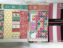 "Lot 200 Scrapbook Paper Sheets 12x12"" Baby Girl,Springtime"