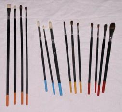 lot of 14 paint brushes arts