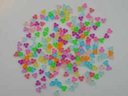 LOT OF 200~TRI SHAPED LOOSE KIDS CRAFT BEADS COLORFUL JEWELR