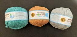 Lot of 3, Martha Stewart Crafts Lion Brand Glitter Ribbon Ya