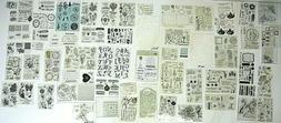 Lot of 650+ Unmounted Clear Acrylic Stamps in a Wide Variety