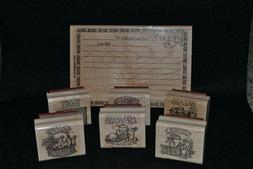 lot of 7 rubber stamps-Stampin' Up-recipe set with categorie