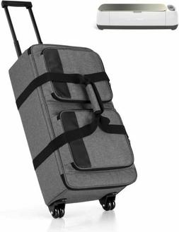 Luxja Rolling Tote Compatible with Cricut Explore Air  and M