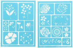 Martha Stewart Adhesive Stencils 2 Sheets/Pkg-Blossoms 5-3/4