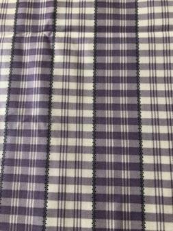 MARTHA STEWART HOME FABRIC 2 Yards X 56' Lilac Gray Stripe P