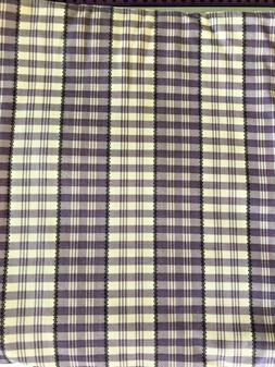 """Martha Stewart Purple Gray Creme Plaid Fabric 56"""" Wide 5yd"""