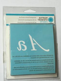 Martha Stewart Stencil Set Alphabet Number Monogram Flourish