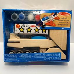 Melissa & Doug Decorate Your Own Wooden Jet Plane Craft Kit
